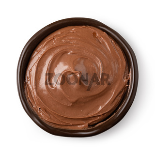 bowl with chocolate spread