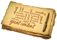 great content word cloud