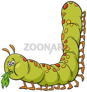 cartoon caterpillar insect animal character