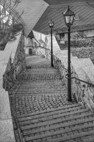 The steep stairs in the old town of Schleiz