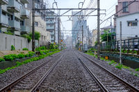 Tokyo City Train Tracks