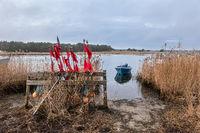 Fischerboot im Nothafen Darßer Ort auf dem Fischland-Darß