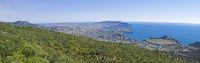 Panorama of the Black Sea coast, Crimea.