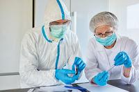 Forscher arbeiten an Covid-19 Medikament und Impfung
