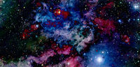 Science fiction wallpaper. Billions of galaxies in the universe. Elements of this image furnished by NASA