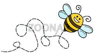a funny bee comic character