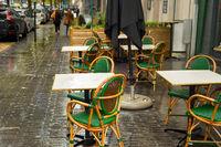 street restaurant nobody Brussels, Belgium