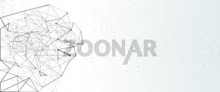 netzwerk netz linien punkte banner partikel