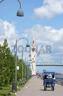 Montreal Clock Tower and Jacques Cartier Bridge, Canada
