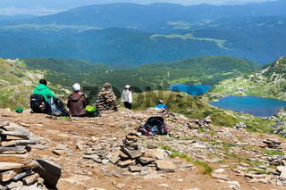 People watching Seven Rila Lakes, Bulgaria