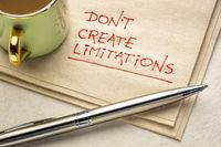do not create limitations - napkin doodle