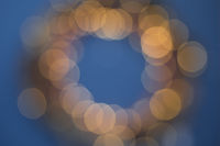 Christmas wreath lights background