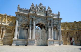 Gate of the Sultan (Saltanat Kapısı) of Dolmabahce Palace. Istanbul. Turkey