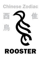 Astrology: ROOSTER / BIRD (sign of Chinese Zodiac)