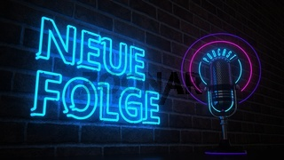 Microphone Podcast Neue Folge Neon Sign
