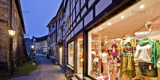 Old town, Hattingen, Germany.