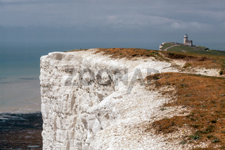 White cliffs near the Belle Toute Lighthouse at Beachey Head