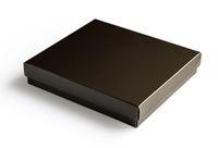 Black gift box isolated on white background