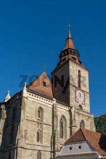 BRASOV, TRANSYLVANIA/ROMANIA - SEPTEMBER 20 : View of the Black Church in Brasov Transylvania Romania on September 20, 2018