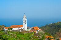 Landscape village church ocean Madeira