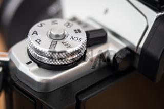 camera P mode dial