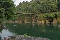 Famous Dawki Bridge over Umngot River, Meghalaya, India