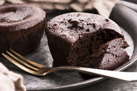 Homemade baked brown Chocolate cupcakes