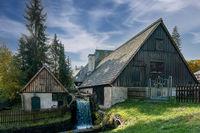 Frohnauer Hammer historical blacksmith watermill in Annaberg Bucholz