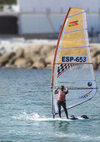Sailing Championship in winter in the city of Alicante