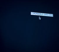 Coronavirus Computer Screen