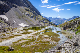 Cow lake, Lac des Vaches, in Vanoise national Park, France