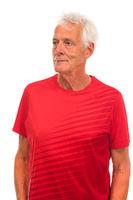 Portrait senior sport man
