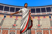 Senator in the Colosseum 3d rendering