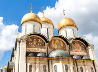 Domes of the Assumption Cathedral of the Moscow Kremlin