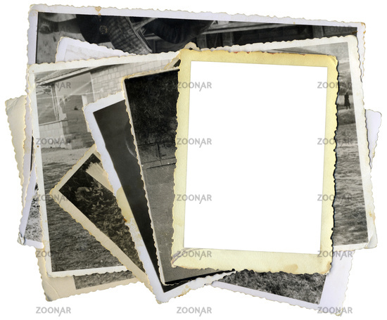 Pile of Old Photos Template Cutout