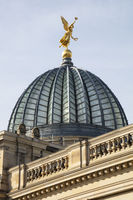 Glass cupola of the academy of arts, Dresden, Saxony, Germany, Europe