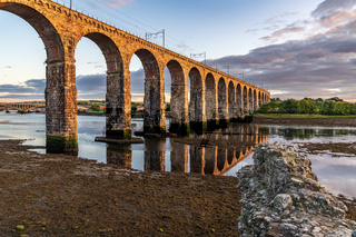 Railway bridge in Berwick-upon-Tweed, England