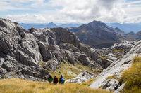 Hikers in Kahurangi National Park, New Zealand