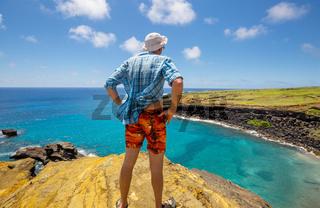 Tourist on Hawaii