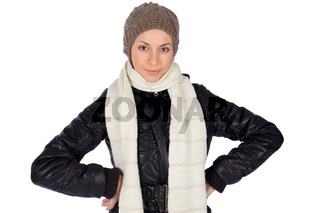 Young Smiling Woman Winter Fashion