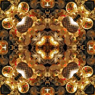 Kaleidoskop-Muster von Christbaumkugeln