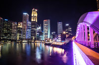 Singapore CBD Skyline at Night