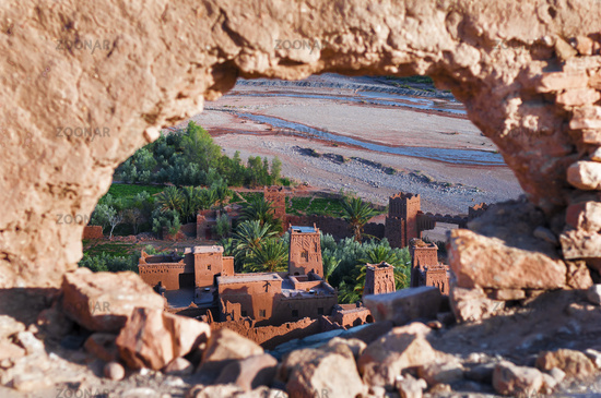 The Kasbahs of Ait Ben Haddou in the south of Morocco, Africa.