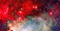 Galactic background. Elements of this image furnished by NASA