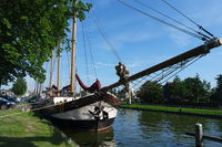 Sailing ship with jib boom, the Netherlands