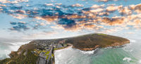 Aerial view of Port Campbell coastline, Australia