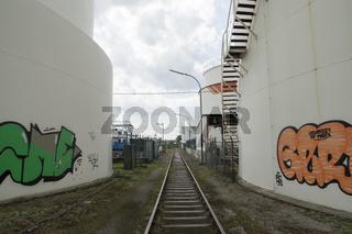 Im Petroleumhafen, Kanalhafen Dortmund, Deutschland