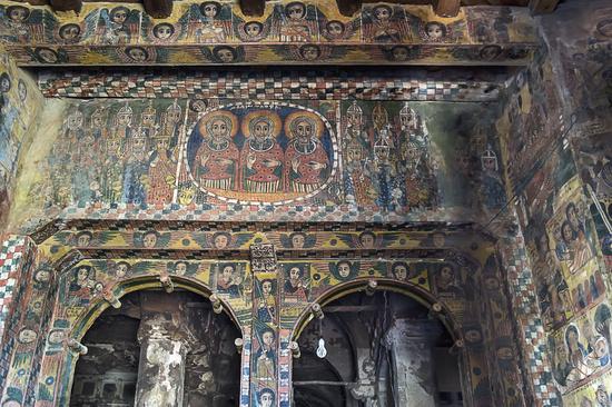 Christian mural, Abreha wa Atsbaha Orthodox Church, Gheralta Region, Tigray, Ethiopia