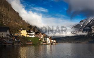 Clouds at Lake Hallstatt, Salzkammergut, Austrian Alps