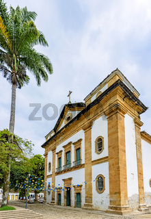 Famous church in the historic center of ancient and city of Paraty